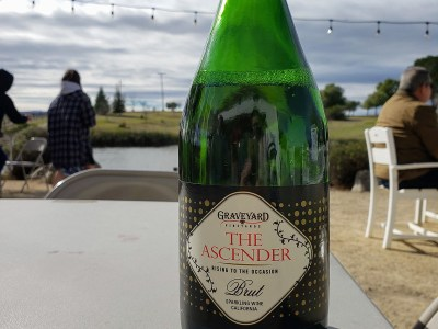 Graveyard Vineyards Sparkling Wine - local champagne