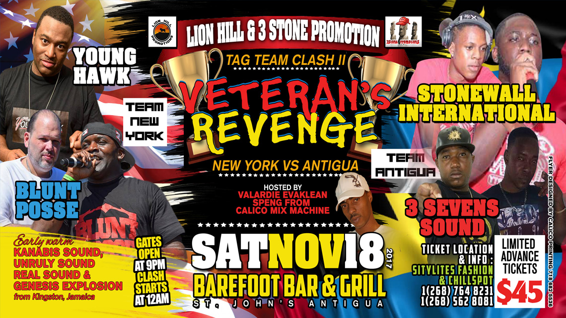 Antigua versus New York Clash