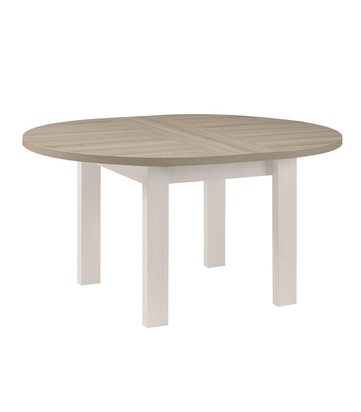 table a manger ronde avec allonge incluse fabrication francaise