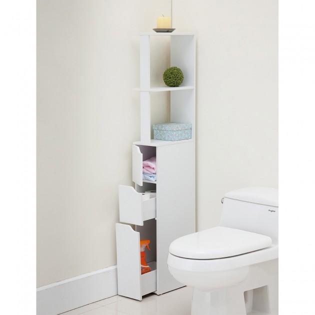 meuble rangement gain de place toilette