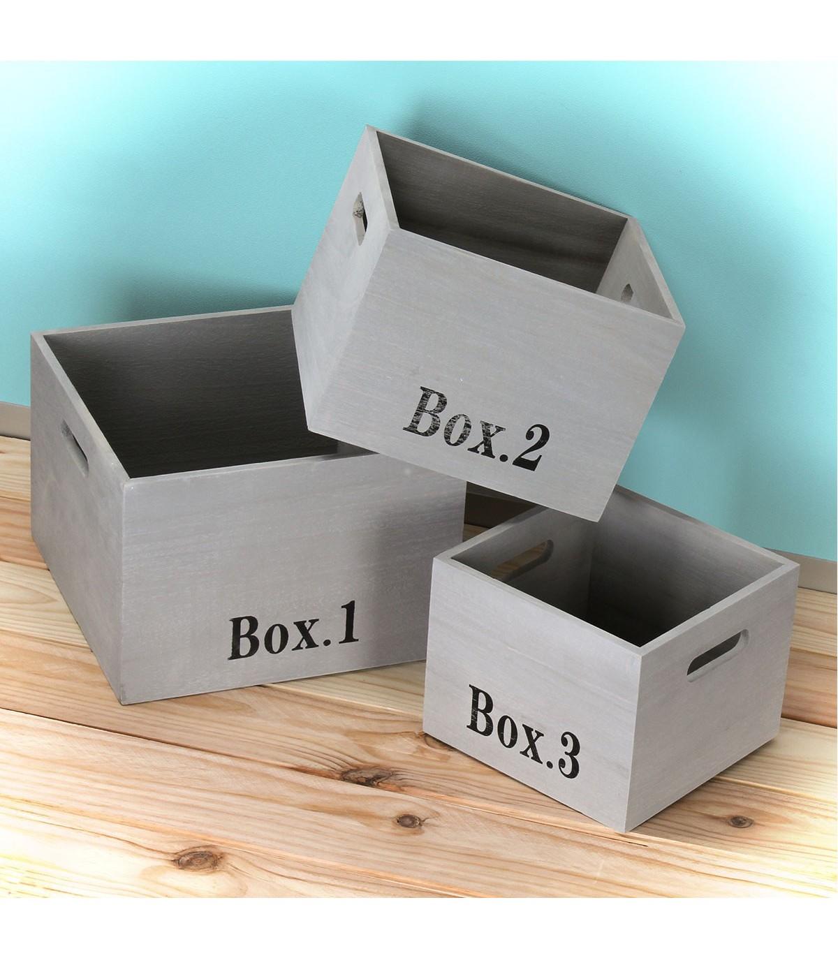 cube de rangement bois lot de 3 calicosy