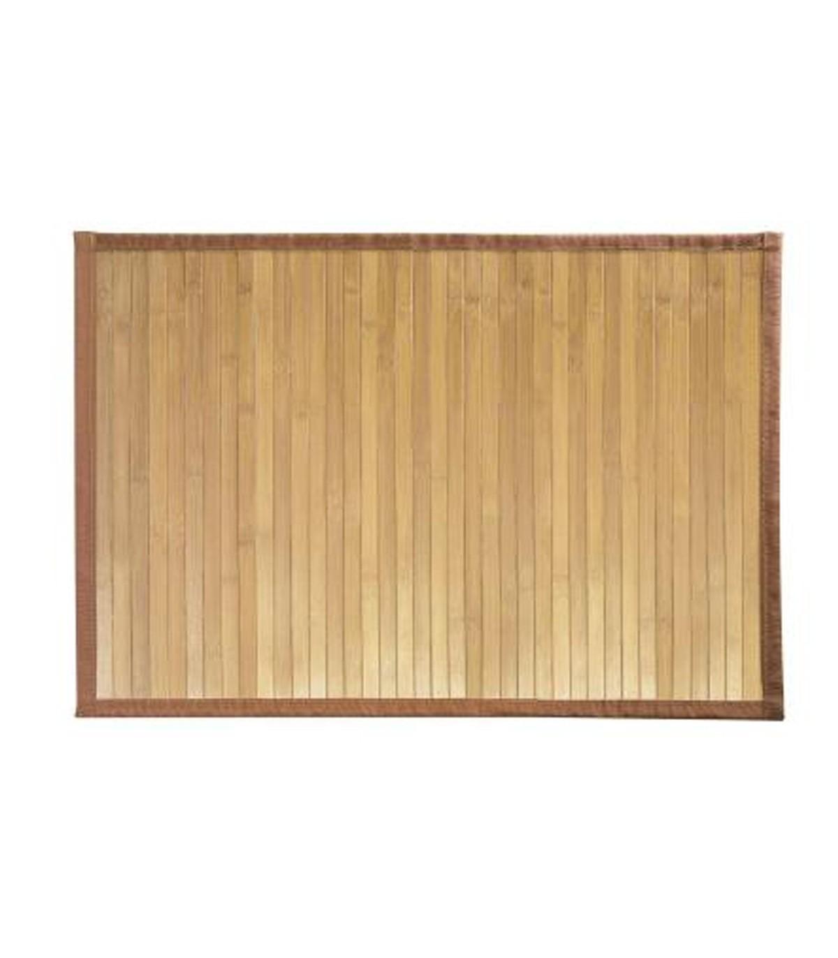 tapis de bain en bambou