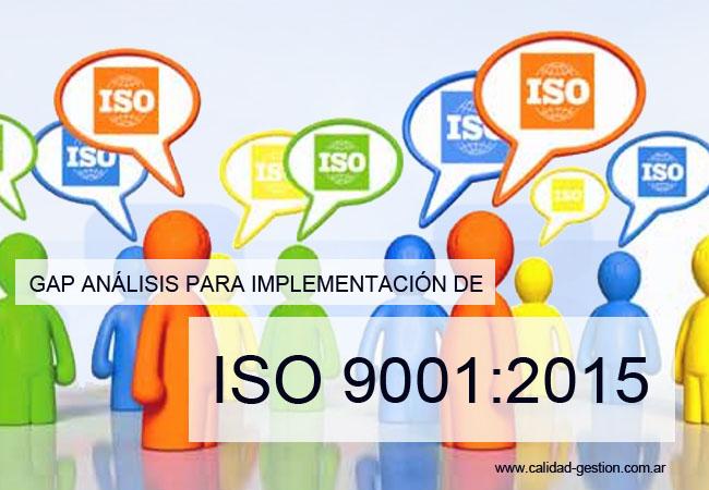 GAP ANALISIS/DIAGNOSTICO ISO 9001:2015