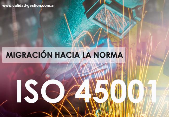 MIGRACION DE OHSAS 18001 A ISO 45001