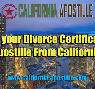 Apostille Divorce Certificate California