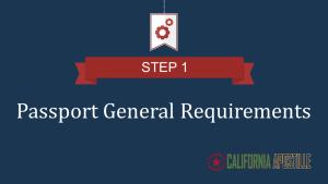 Passport general requirements