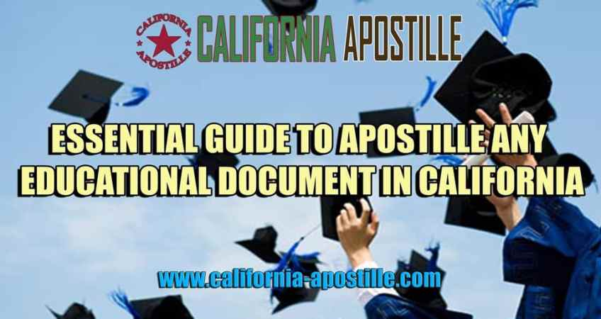 Apostille Educational Document in California