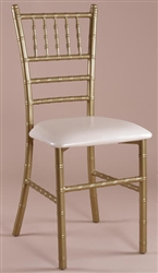 Gold Metal Chiavai Chair, Metal Tiffany Chairs, Mahogany ...