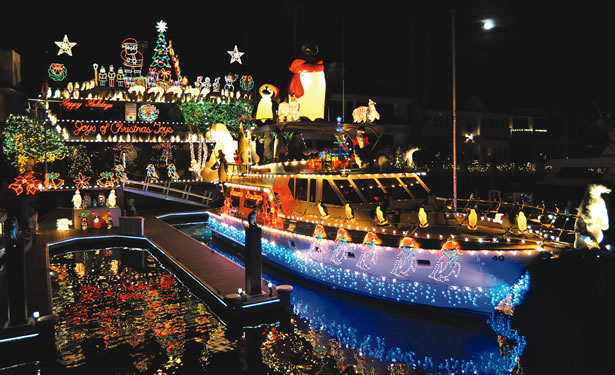 Newport Beach Christmas Boat Parade California Beaches