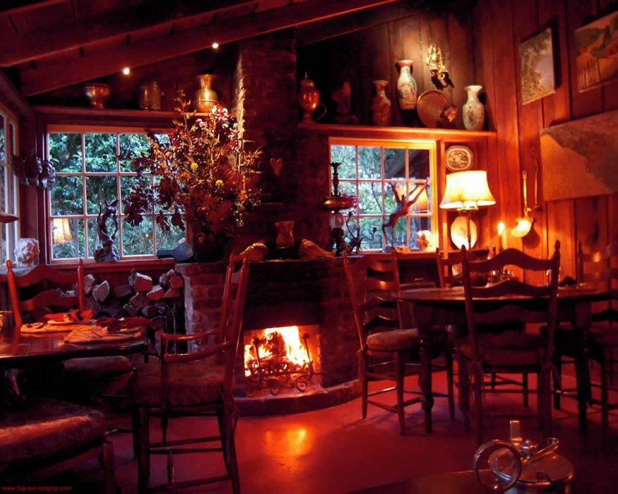 Deetjens Restaurant Big Sur CA  California Beaches