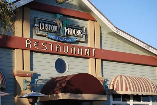Custom House Restaurant Avila Beach CA  California Beaches