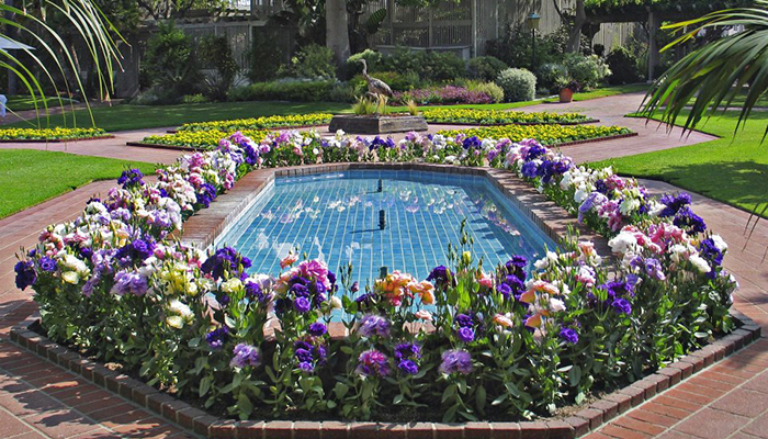 wheelchair names fisher price high chair sherman gardens and library, corona del mar, ca - california beaches