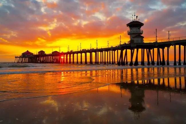 Beach Bonfires in Orange County  California Beaches