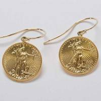 22k Gold Coin Earrings - California Collectors