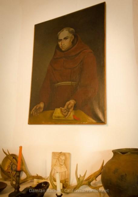 Father Antonio Peyri portrait at San Antonio de Pala museum.