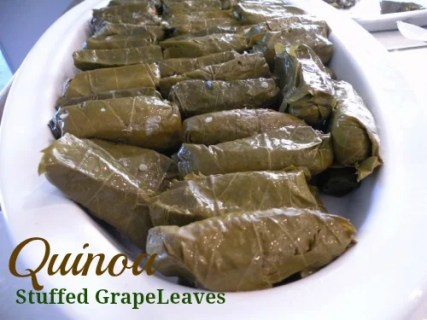 Quinoa Stuffed Grape Leaves