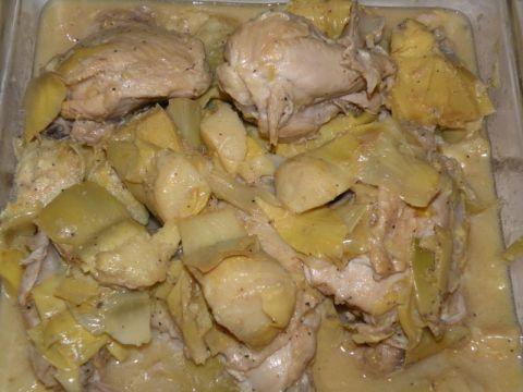 Right! greek chicken with artichokes will