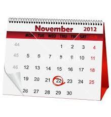 nov. calendar