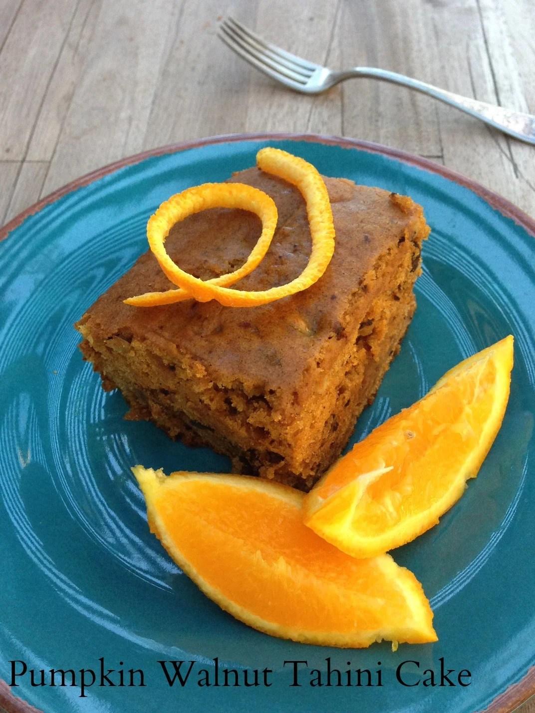 Pumpkin Walnut Tahini Cake California Greek Girl