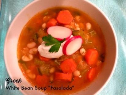 Greek White Bean Soup -Fasoulada