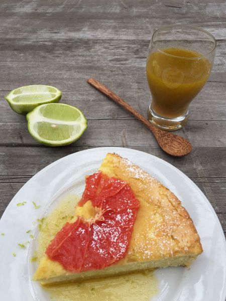olive oil cake with grapefruit