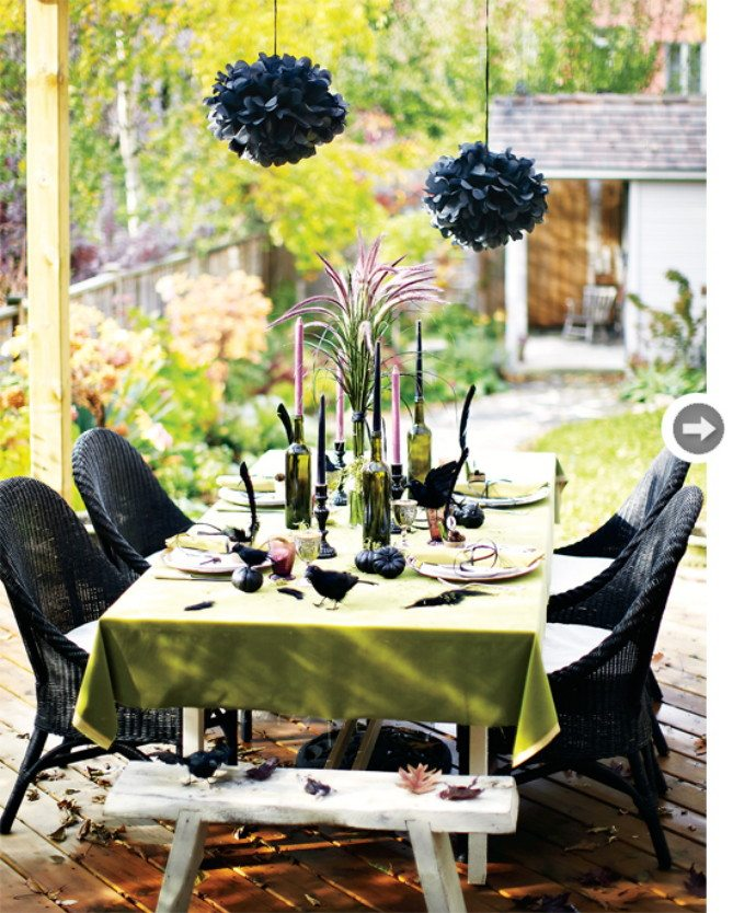 Hallows table Put Some Haute In Your Halloween Haunt