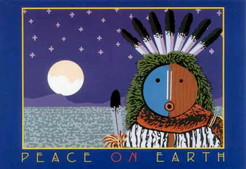 NATIVE AMERICAN CHRISTMAS CARD