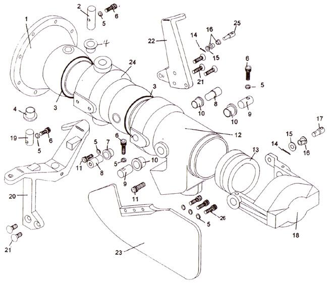 American Turbine parts for Berkeley 12 YJ Jet Drive Pump.