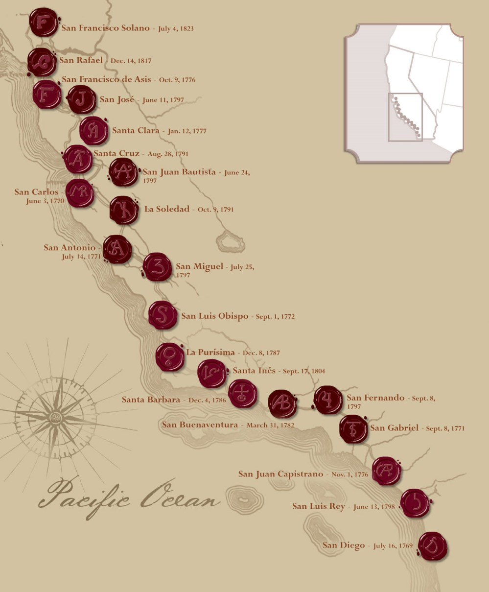 medium resolution of California Missions in California – Fashion dresses