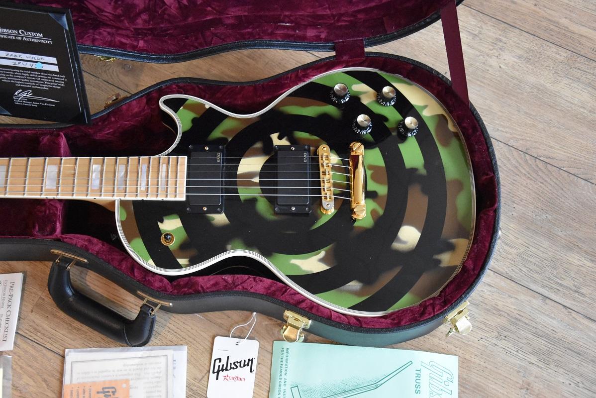 Electric Guitars Gibson LES PAUL ZAKK WYLDE CAMO année 2008 OCCASION 4650