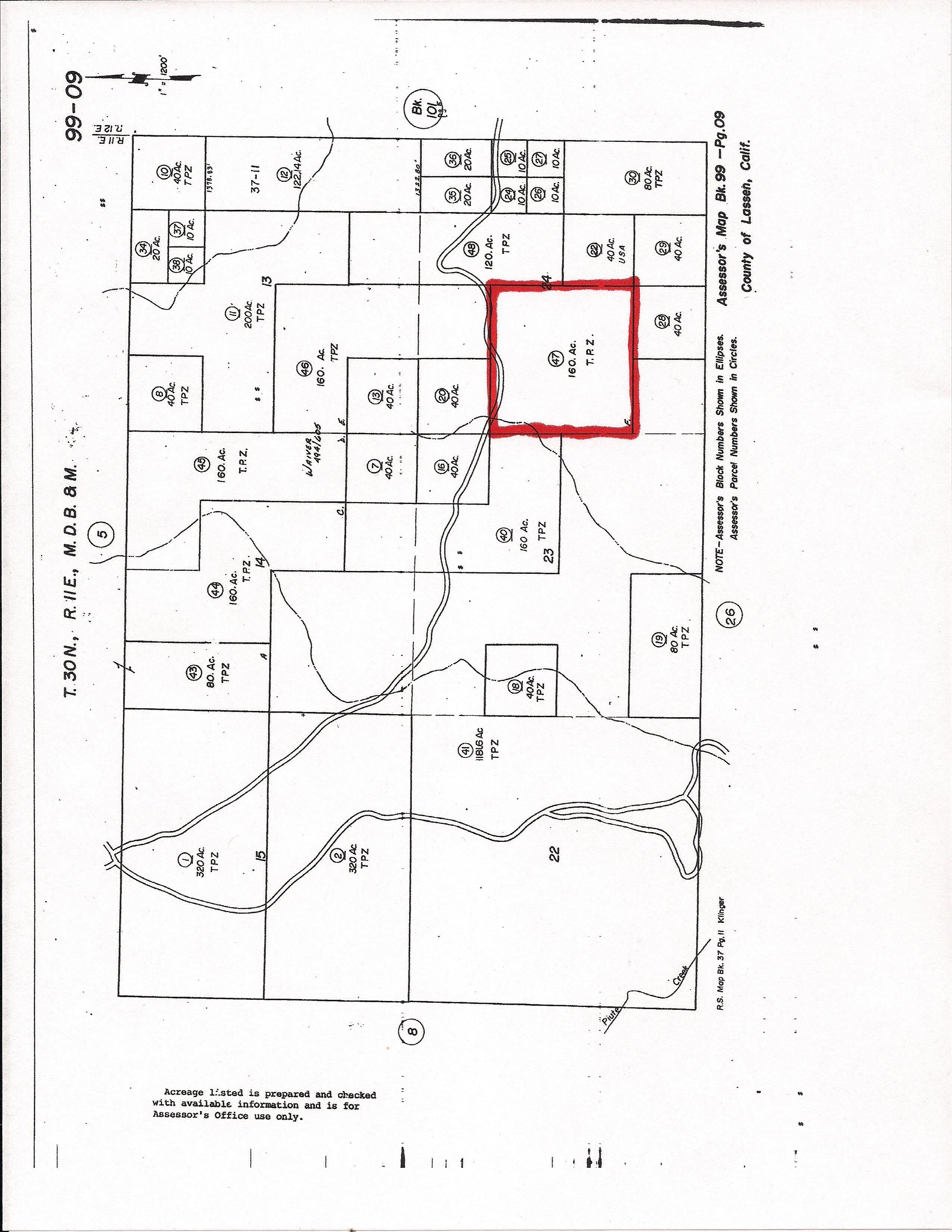 Paiute Lane Lassen County Susanville CA Timber Properties