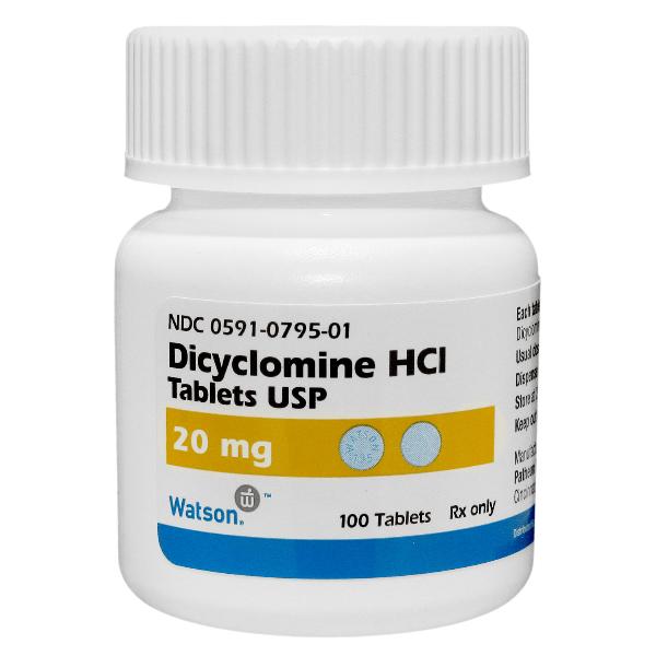Dicyclomine 20mg 100 Tablets