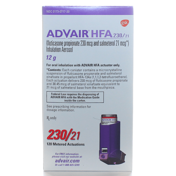 Advair HFA Inhaler 230mcg/21mcg