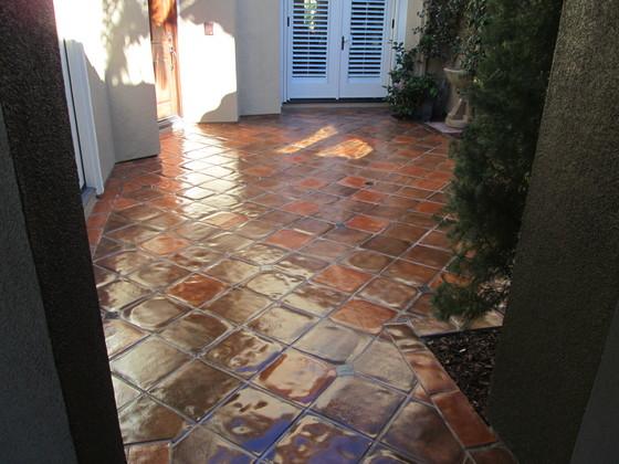 Paver Floor Staining Color Match  California Tile Restoration