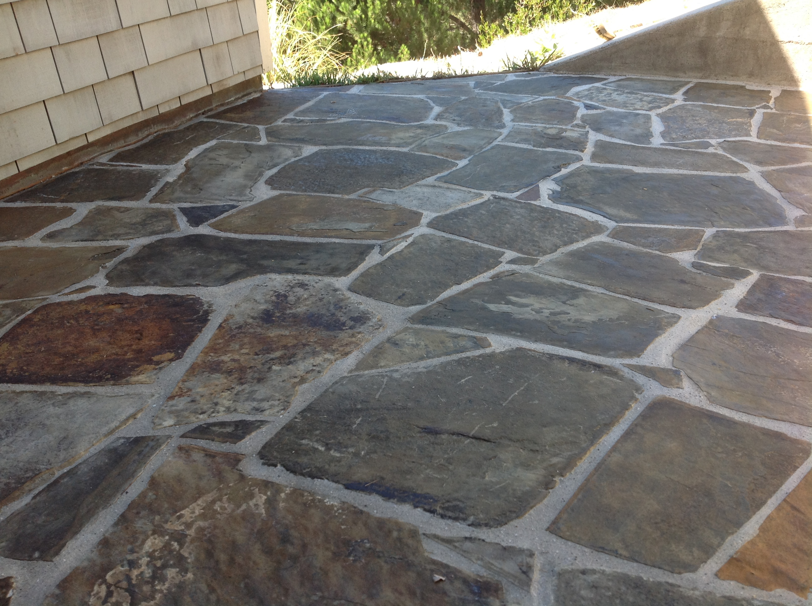 Refinishing Slate tile floors and deep cleaning  California Tile Restoration