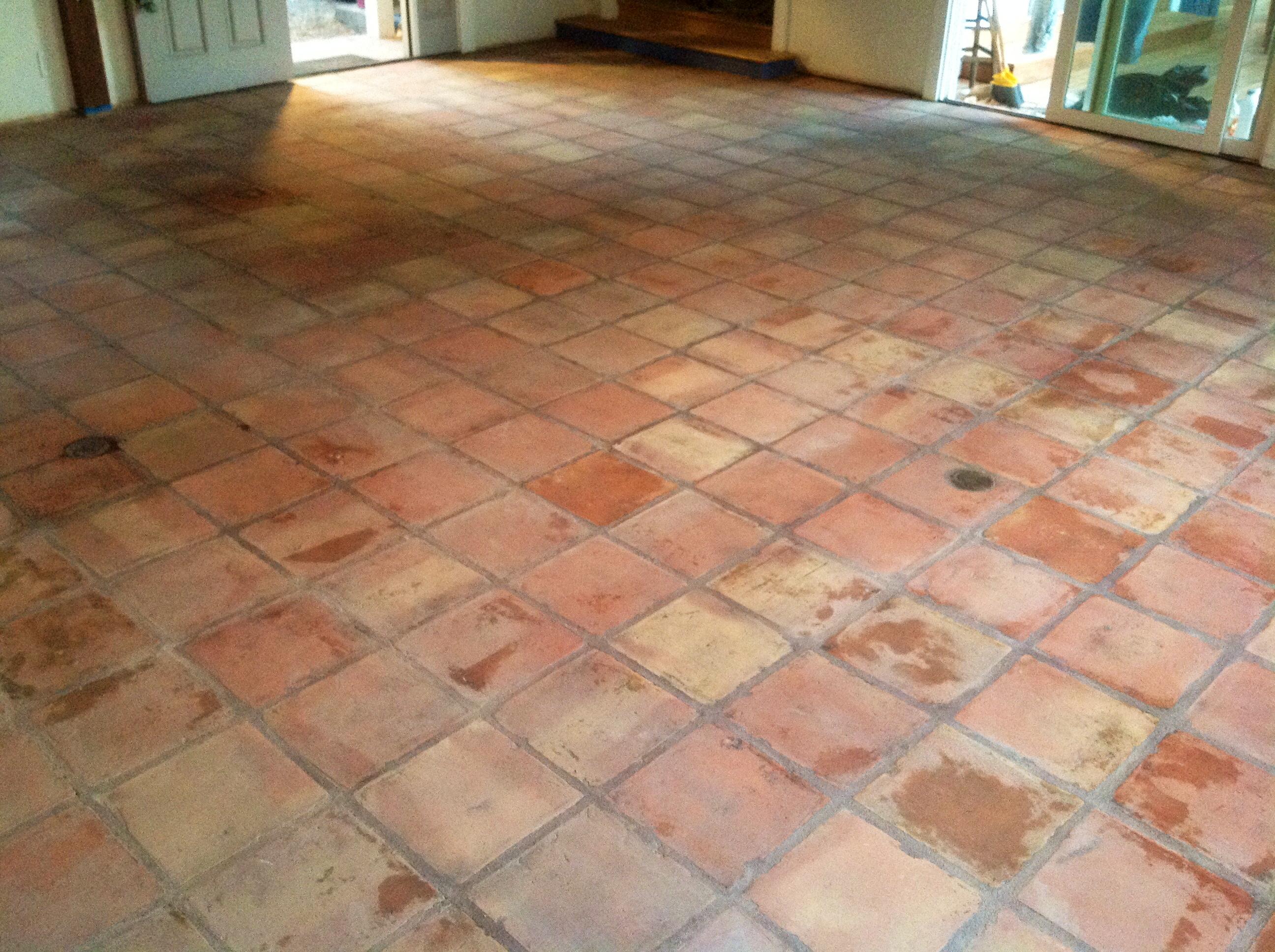 saltillo mexican tiles stripped