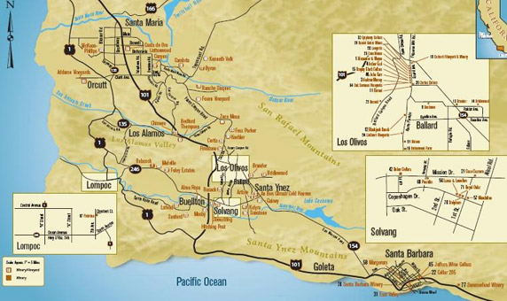 Santa Barbara Santa Ynez Valley California Wine