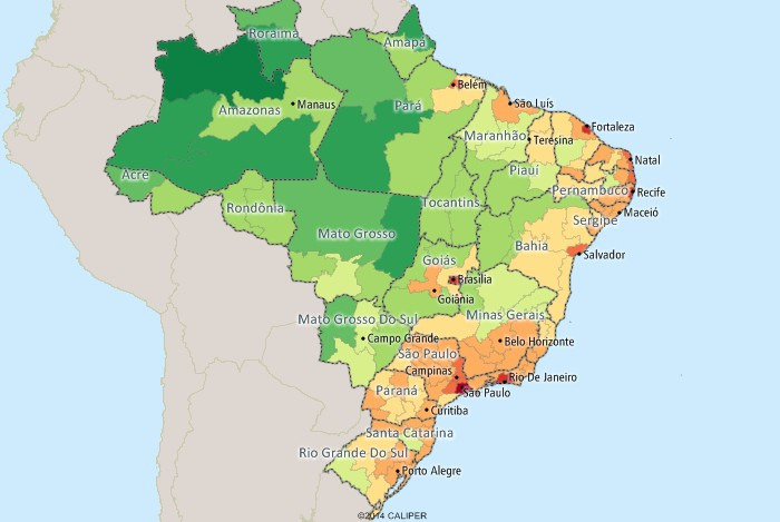 Maptitude Mapping Software For Brazil