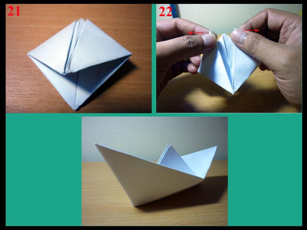 Cara Membuat Perahu Kertas Sederhana  Origami Perahu Kertas