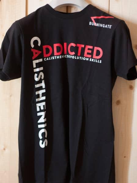 tshirt calisthenics addicted nera