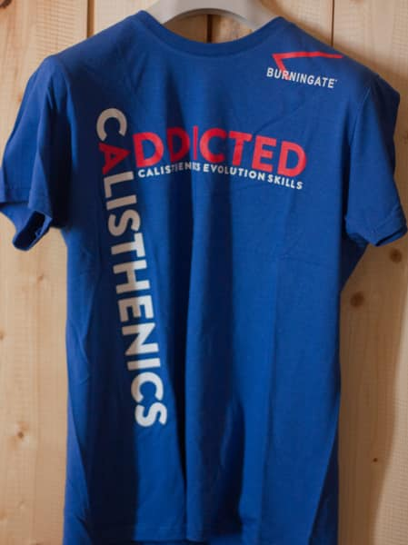 TSHIRT CALISTHENICS ADDICTED BLU