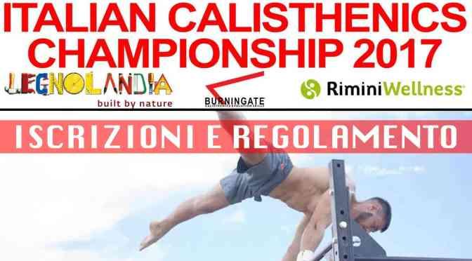 CAMPIONATO ITALIANO CALISTHENICS 2017: ISCRIZIONI E REGOLAMENTO