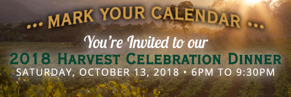 Come celebrate the 2018 Grape Harvest with us!