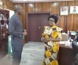 Lebo in Oyo-Ita's office