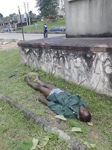 The corpse lying by the Calabar gate