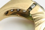 Gold and Diamond Ring, Side View