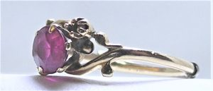 vintage ruby ring with worn prongs