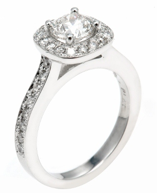 White Gold Engagement ring with Halo