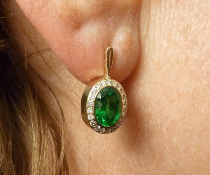 Fitted Emerald and Diamond Earrings