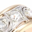 Antique Diamond Ring with Milgrain Engraving